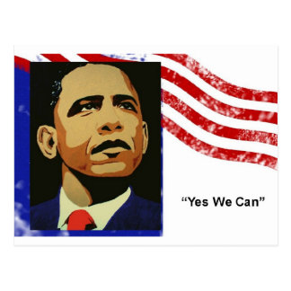 Obama-Sim nós podemos (o cartão) Cartão Postal