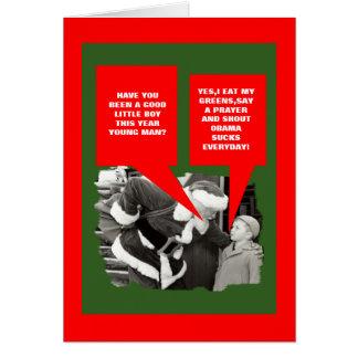 Obama suga o Natal Cartão Comemorativo