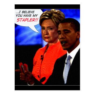 obama tomou meu grampeador cartão postal