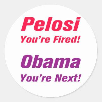Obama você é seguinte! Etiqueta Adesivo Em Formato Redondo