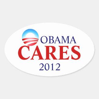 Obamacare significa cuidados de Obama! Adesivos Ovais