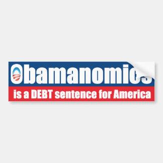 Obamanomics - frase do débito adesivo para carro