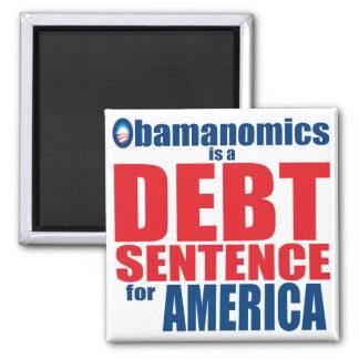 Obamanomics - frase do débito imã de geladeira