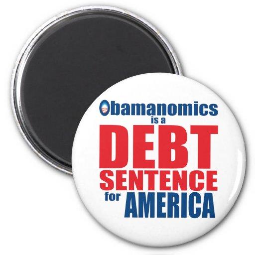 Obamanomics - frase do débito imã de refrigerador