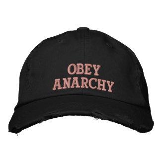Obedeça a anarquia boné bordado