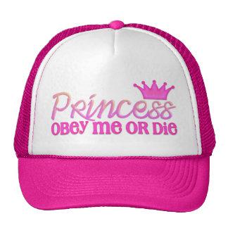 Obedeça a princesa boné