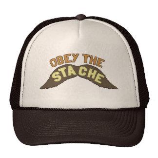 Obedeça o chapéu/boné do camionista de Stache Boné