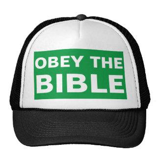 Obedeça o chapéu do evangelismo da bíblia boné
