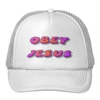 Obedeça o cristão de Jesus Boné