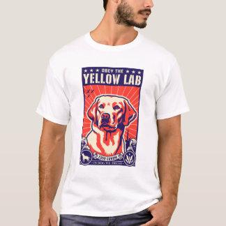 Obedeça o laboratório amarelo! camiseta