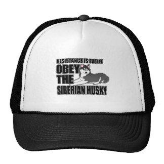 Obedeça o rouco Siberian Bonés
