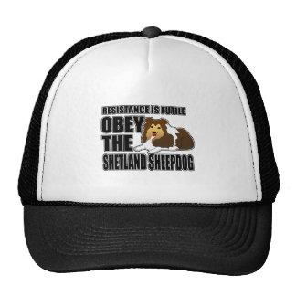 Obedeça o Sheepdog de Shetland Boné