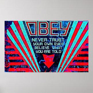 Obedeça! Poster Pôster