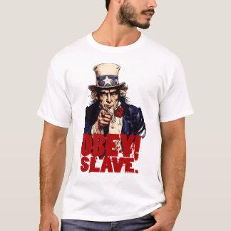 Obedeça! Salvar. T-shirt sujo do tio Sam Camiseta