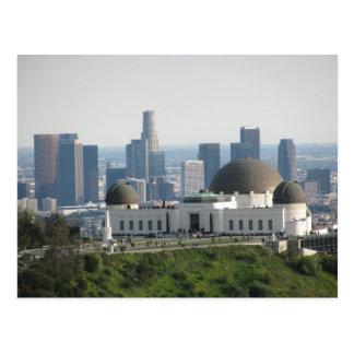 Obervatório de Griffith e centro Los Angeles Cartão Postal