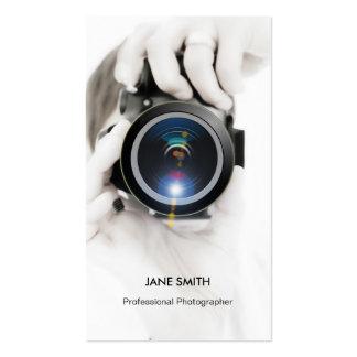 Objectiva profissional do fotógrafo - elegante cartão de visita