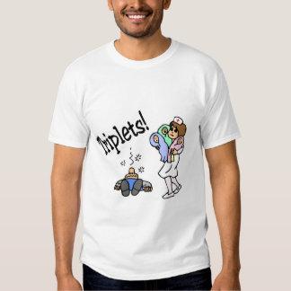 Objectivas triplas (unisex) camiseta