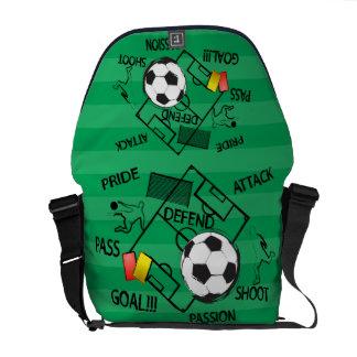 Objetivo do ataque do futebol do futebol bolsas mensageiro