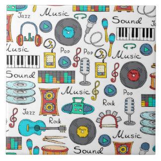 Objetos ilustrados da música