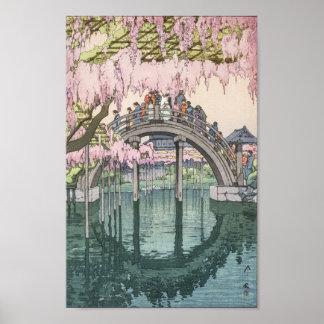 Obra-prima clássica oriental do vintage asiático pôster