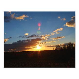 Obra-prima do por do sol foto arte