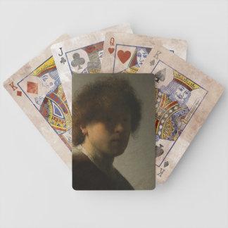 Obra-prima famosa em cartões de jogo, Rembrandt da Baralho De Truco