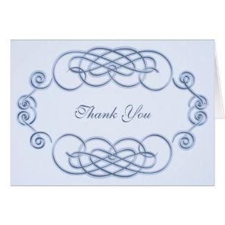 Obrigado A2 filigrana azul você cartão de nota
