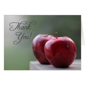 Obrigado a ou de um professor (o cartão de nota)