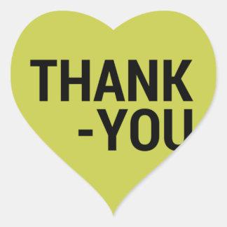 Obrigado Adesivo Coração