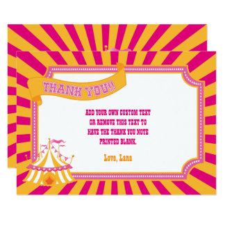 Obrigado alaranjado & cor-de-rosa do carnaval você convite 8.89 x 12.7cm