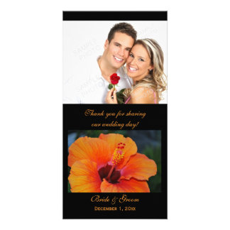 Obrigado alaranjado do hibiscus você cartões com