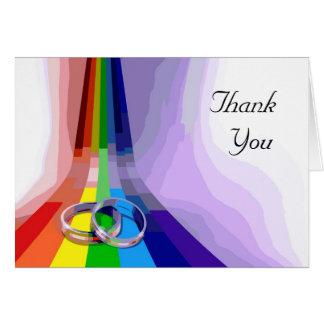 Obrigado alegre do casamento você cartão