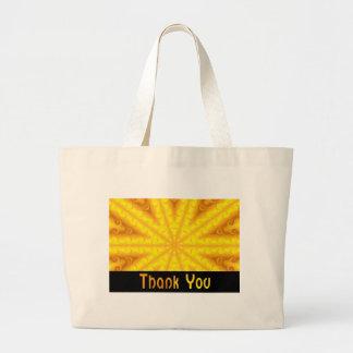 Obrigado amarelo bolsas para compras