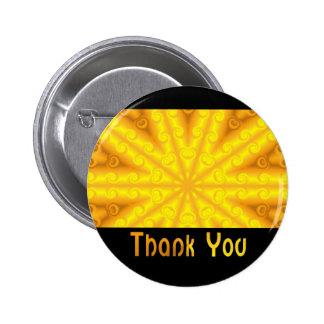 Obrigado amarelo botons