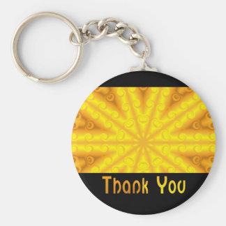Obrigado amarelo chaveiro