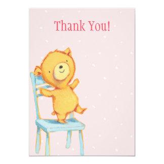 Obrigado amarelo do urso você convite 12.7 x 17.78cm