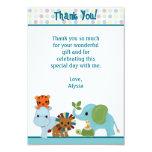 """Obrigado animal da selva da parada você 3,5"""" x5"""" convites personalizado"""