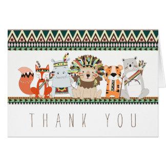 Obrigado animal tribal você cartões