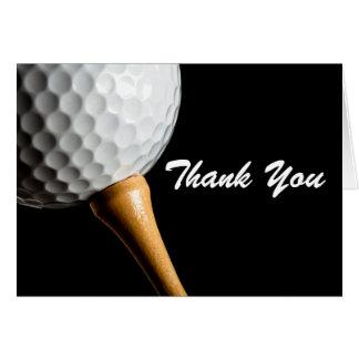 Obrigado aniversário do golfe do homem do cartão
