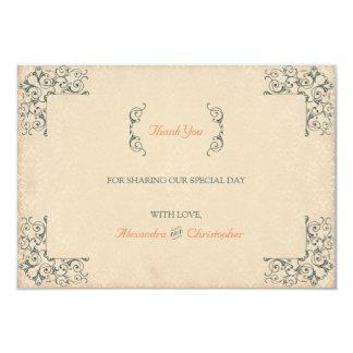 Obrigado antigo do casamento vintage dos convite 8.89 x 12.7cm