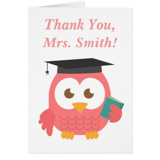 Obrigado, apreciação do professor, coruja do profe cartao