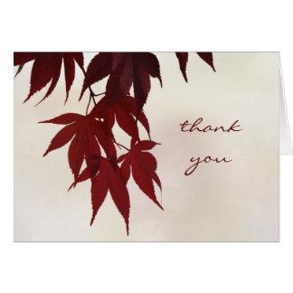 Obrigado - as folhas de bordo japonesas cartões