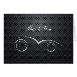 Obrigado automotriz do negócio do tema você cartõe cartão de nota