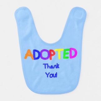 obrigado azul adotado você babadores infantis