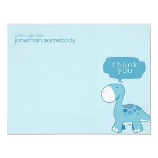 Obrigado azul bonito do dinossauro do Diplodocus Convite