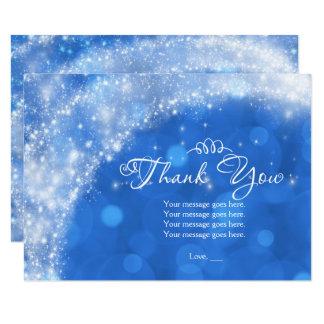 Obrigado azul & branco de Cinderella da faísca Convite 8.89 X 12.7cm