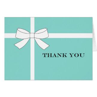 Obrigado azul & branco do partido de recepção você cartão de nota