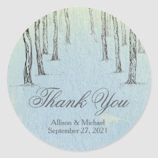 Obrigado azul das madeiras do inverno você adesivo
