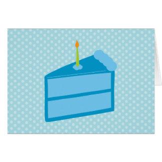 Obrigado azul do bolo das bolinhas você cartões