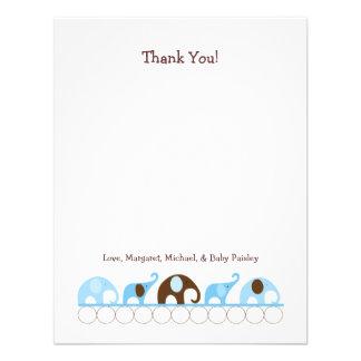 Obrigado azul do chá de fraldas dos elefantes você convites personalizados